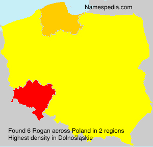 Surname Rogan in Poland