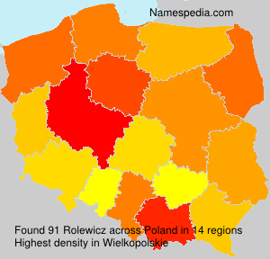 Surname Rolewicz in Poland