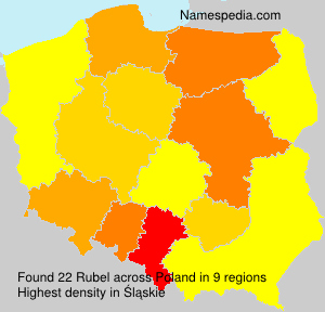 Surname Rubel in Poland