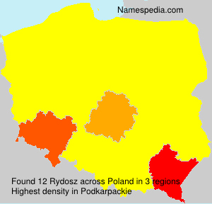 Surname Rydosz in Poland
