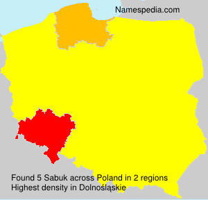 Surname Sabuk in Poland