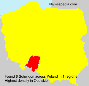 Surname Schwigon in Poland