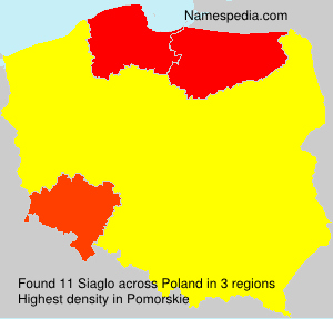 Surname Siaglo in Poland