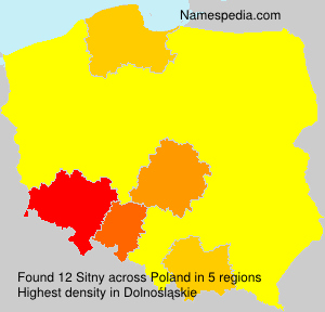 Surname Sitny in Poland