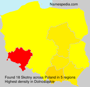 Surname Skotny in Poland