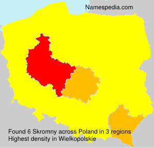Surname Skromny in Poland