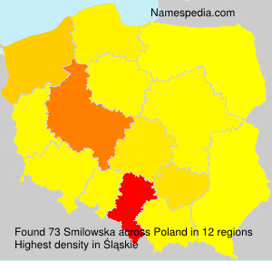 Surname Smilowska in Poland