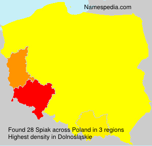 Surname Spiak in Poland