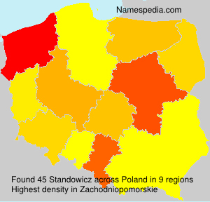 Surname Standowicz in Poland