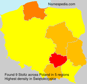 Surname Stoltz in Poland