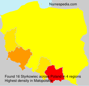 Surname Styrkowiec in Poland