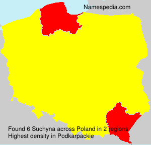 Surname Suchyna in Poland