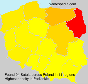 Surname Sutula in Poland