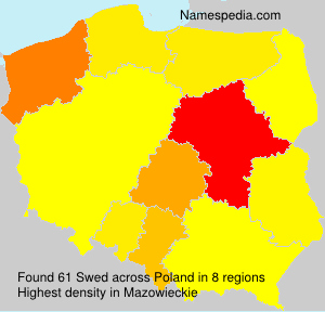 Surname Swed in Poland