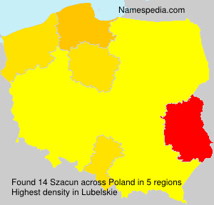Surname Szacun in Poland
