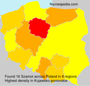 Surname Szamot in Poland