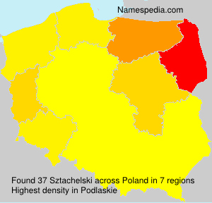 Surname Sztachelski in Poland