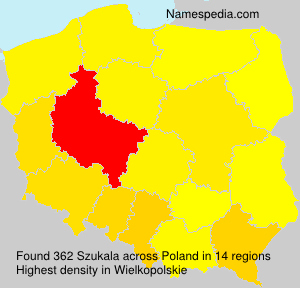 Surname Szukala in Poland