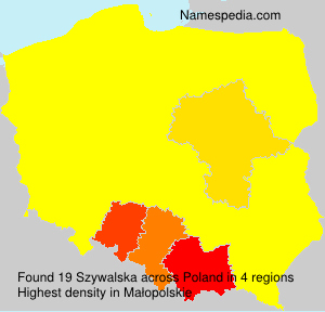 Surname Szywalska in Poland