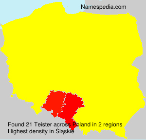 Surname Teister in Poland