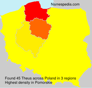 Surname Theus in Poland
