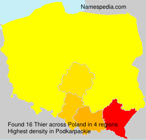 Surname Thier in Poland