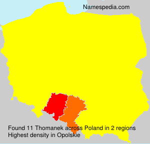 Surname Thomanek in Poland