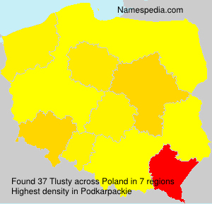 Surname Tlusty in Poland