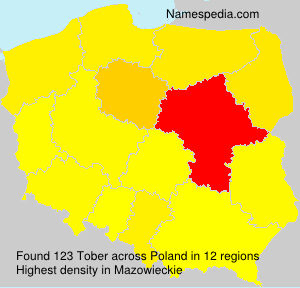 Surname Tober in Poland