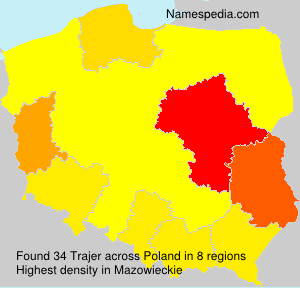 Surname Trajer in Poland