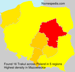 Surname Trakul in Poland