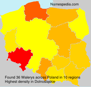 Surname Walerys in Poland