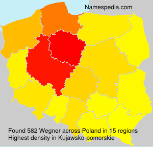 Surname Wegner in Poland