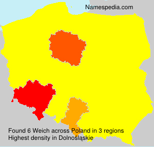 Surname Weich in Poland
