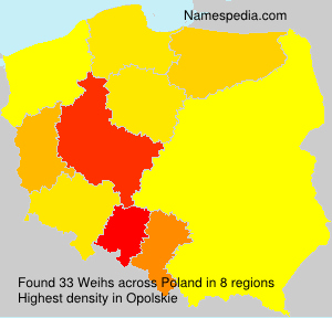 Surname Weihs in Poland