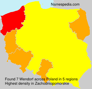 Surname Wendorf in Poland