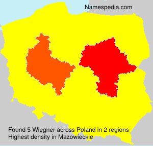Surname Wiegner in Poland
