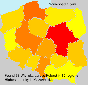 Surname Wielicka in Poland