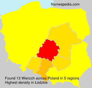 Surname Wierzch in Poland