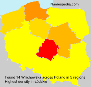 Surname Wilichowska in Poland
