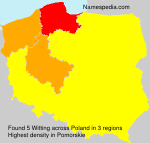 Surname Witting in Poland