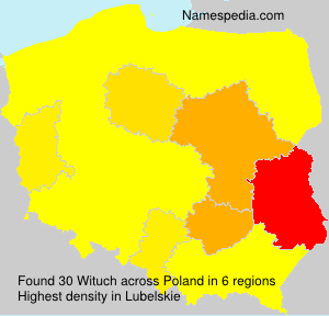 Surname Wituch in Poland