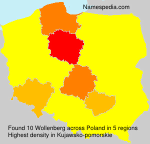 Surname Wollenberg in Poland