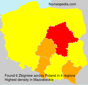 Surname Zbigniew in Poland