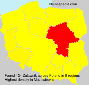 Surname Zulawnik in Poland