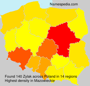 Surname Zylak in Poland