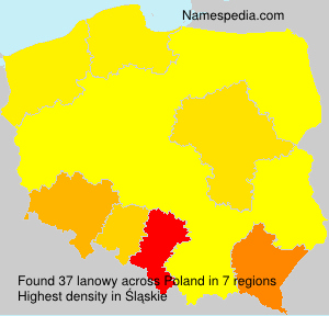 Surname lanowy in Poland