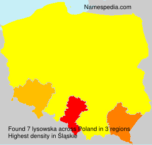Surname lysowska in Poland