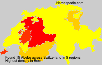 Surname Abebe in Switzerland