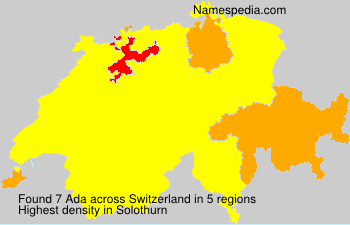 Surname Ada in Switzerland